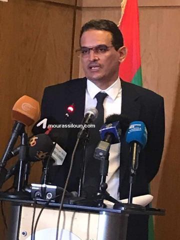 عزيز ولد داهي ـ محافظ البنك المركزي خلال حديثه في المؤتمر الصحفي