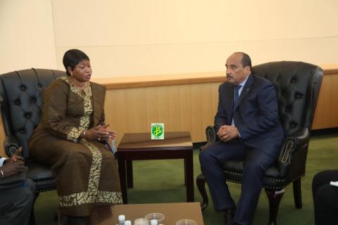 المدعية العامة للجنايات الدولية بعد لقاءها مع الرئيس تشكر موريتانيا على التعاون