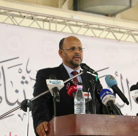 محمد جميل منصور رئيس حزب تواصل ذي التوجه الإسلامي