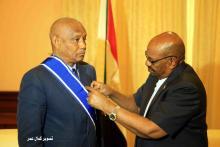 الرئيس السوداني يويشح السفير محمد كان بالخرطوم
