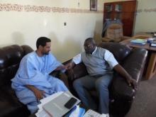 عمدة روصو سيدي جارا في مقابلة سابقة مع الزميل أحمد سالم ولد باب.