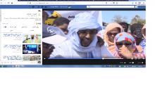 صفحة الجزيرة ـ موريتانيا وثقت الوقفة و نشرت فيديو يتحدث فيه نائب مقطع لحجار