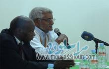 الأمين العام للكونفدرالية العامة لعمال موريتانيا (CGTM) أثناء مداخلته